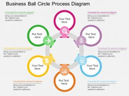Business Ball Circle Process Diagram Flat Powerpoint Design