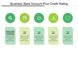 Business Bank Account Poor Credit Rating Ppt Powerpoint Presentation Model Diagrams Cpb