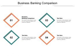 Business Banking Comparison Ppt Powerpoint Presentation Outline Shapes Cpb
