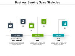 Business Banking Sales Strategies Ppt Powerpoint Presentation Layouts Inspiration Cpb