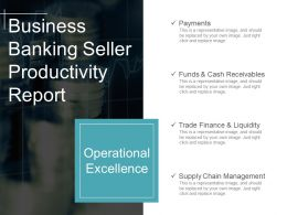 Business Banking Seller Productivity Report Powerpoint Ideas