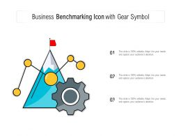 Business Benchmarking Icon With Gear Symbol
