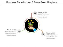 Business Benefits Icon 3 Powerpoint Graphics