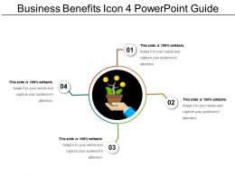 Business Benefits Icon 4 Powerpoint Guide