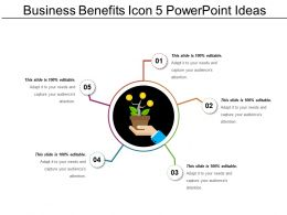 Business Benefits Icon 5 Powerpoint Ideas