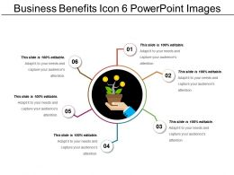 Business Benefits Icon 6 Powerpoint Images