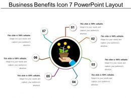 Business Benefits Icon 7 Powerpoint Layout
