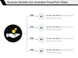 Business Benefits Icon Illustration Powerpoint Slides