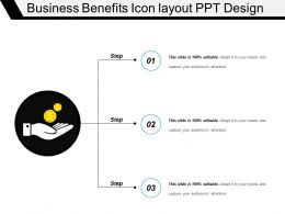Business Benefits Icon Layout Ppt Design