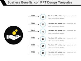 Business Benefits Icon Ppt Design Templates