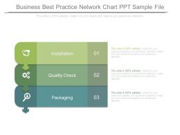 Business Best Practice Network Chart Ppt Sample File