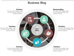 Business Blog Ppt Powerpoint Presentation Gallery Deck Cpb