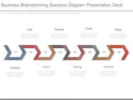 Business Brainstorming Sessions Diagram Presentation Deck