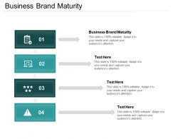 Business Brand Maturity Ppt Powerpoint Presentation File Themes Cpb