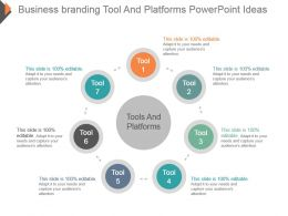 Business Branding Tool And Platforms Powerpoint Ideas