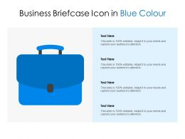Business Briefcase Icon In Blue Colour