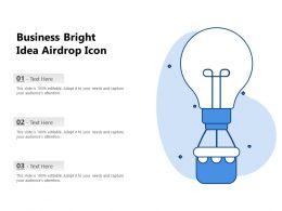 Business Bright Idea Airdrop Icon