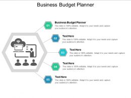 Business Budget Planner Ppt Powerpoint Presentation Gallery Summary Cpb