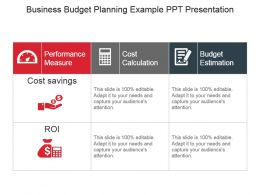 Business Budget Planning Example Ppt Presentation