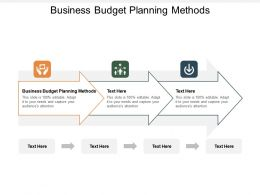 Business Budget Planning Methods Ppt Powerpoint Presentation File Professional Cpb