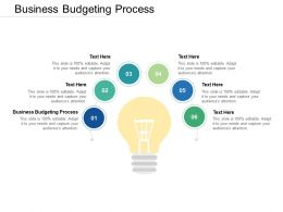 Business Budgeting Process Ppt Powerpoint Presentation Slides Slideshow Cpb