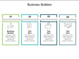 Business Builders Ppt Powerpoint Presentation Pictures Slide Download Cpb