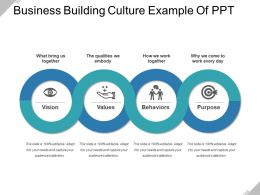Business Building Culture Example Of Ppt