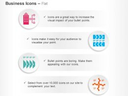 Business Building Linear Flow Square Path Division Ppt Icons Graphics