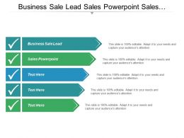 Business Business Sale Lead Sales Powerpoint Sales Services Cpb