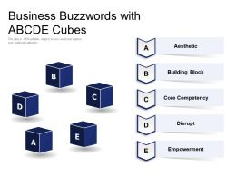Business Buzzwords With ABCDE Cubes