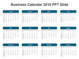 Business Calendar 2018 Ppt Slide