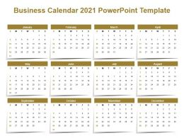 Business Calendar 2021 Powerpoint Template