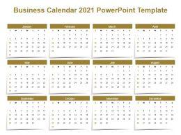 Business Calendar 2021 Powerpoint Template
