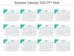 Business Calendar 2022 Ppt Slide