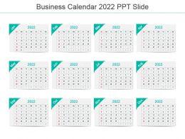 Business Calendar 2022 Ppt Slide
