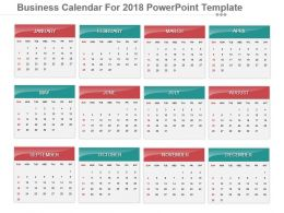 Business Calendar For 2018 Powerpoint Template