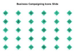Business Campaigning Icons Slide Checklist Growth C325 Ppt Powerpoint Presentation Infographics Rules