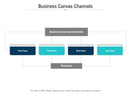 Business Canvas Channels Ppt Powerpoint Presentation Ideas Gridlines Cpb