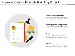 Business Canvas Example Raid Log Project Management Year Fundraising