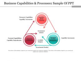 Business Capabilities And Processes Sample Of Ppt