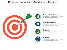 Business Capabilities Architecture Metrics Transformation Activities Implementation Process