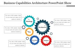 Business Capabilities Architecture Powerpoint Show