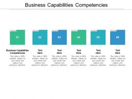 Business Capabilities Competencies Ppt Powerpoint Presentation Clipart Cpb