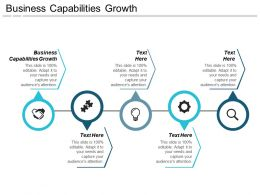 Business Capabilities Growth Ppt Powerpoint Presentation Gallery Model Cpb