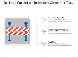 Business Capabilities Technology Constraints Top Down Approach Financial Management