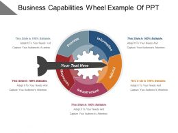 Business Capabilities Wheel Example Of Ppt