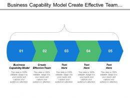 Business Capability Model Create Effective Team Measure Team Progress