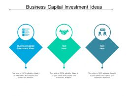 Business Capital Investment Ideas Ppt Powerpoint Presentation Styles Grid Cpb