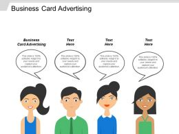 Business Card Advertising Ppt Powerpoint Presentation File Gridlines Cpb