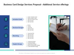 Business Card Design Services Proposal Additional Service Offerings Ppt Powerpoint Sample
